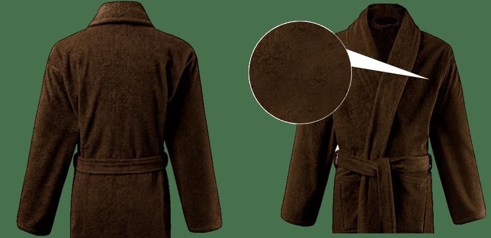 Мужской велюровый халат из махры и 100% хлопка